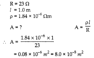 RBSE Solutions for Class 10 Science Chapter 10 Electricity Current AS Q23