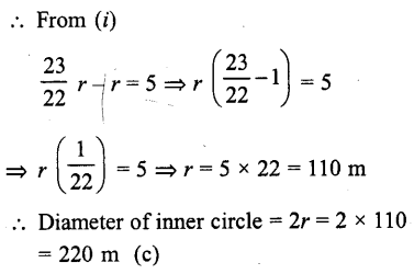 RD Sharma Class 10 Solutions Chapter 13 Areas Related to Circles MCQS -7a