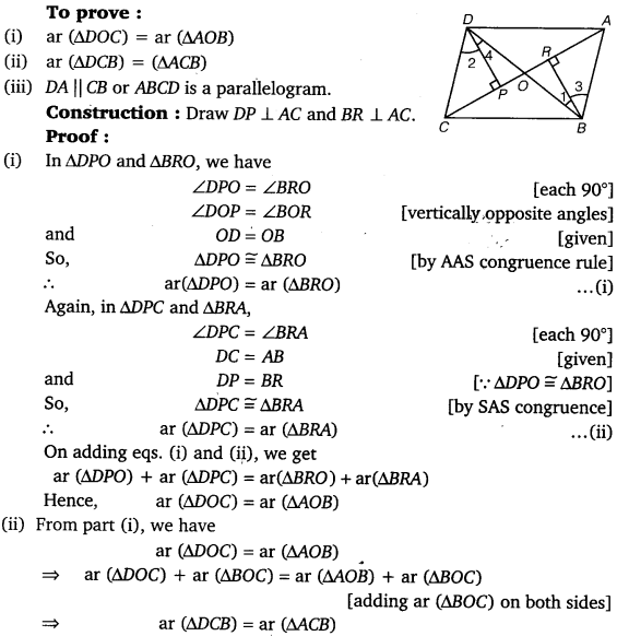 NCERT Solutions for Class 9 Maths Chapter 9 Area of parallelograms and Triangles 16