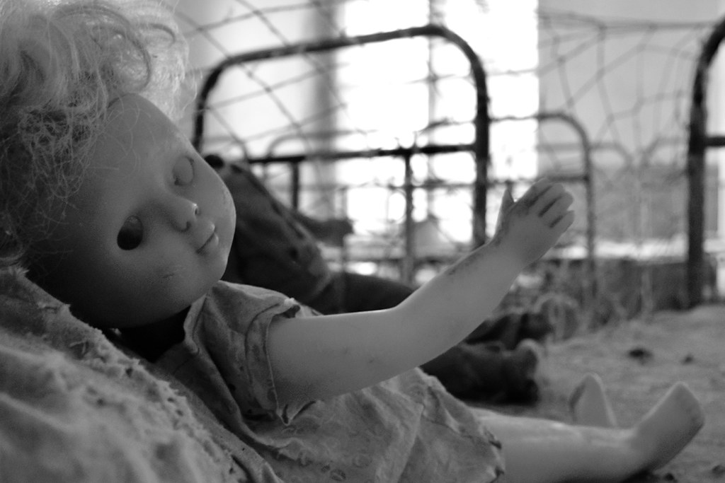 Abandoned doll in Chernobyl area