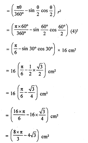 RD Sharma Class 10 Solutions Chapter 13 Areas Related to Circles Ex 13.3 - 1a