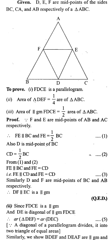 ML Aggarwal Class 9 Solutions for ICSE Maths Chapter 14 Theorems on Area     7
