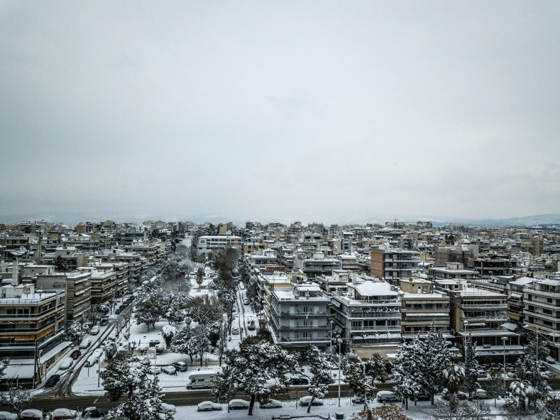 Snowfall 2019 - Kalamaria Thessaloniki / Greece