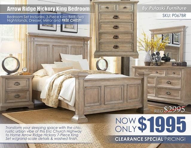 Arrow Ridge Hickory King Bedroom Black Friday Special_P067BR