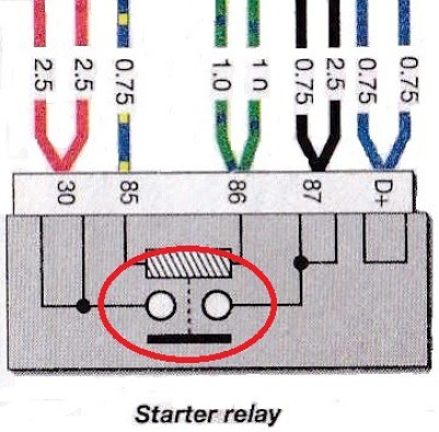 6 Series 1975-76 Starter Relay Internals