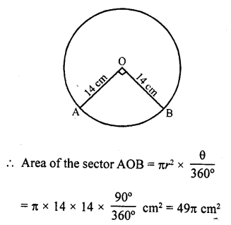 RD Sharma Class 10 Solutions Chapter 13 Areas Related to Circles VSAQS - 13
