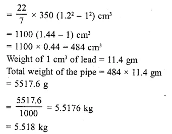 RD Sharma Class 10 Solutions Chapter 14 Surface Areas and Volumes  RV 55