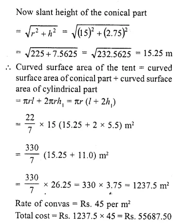 RD Sharma Class 10 Solutions Chapter 14 Surface Areas and Volumes  RV 50a
