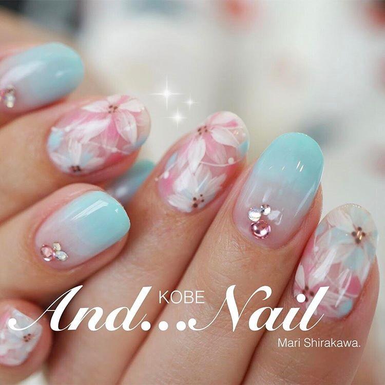 ♥ 漸層指甲的魅力!指上淡淡的暈開 15