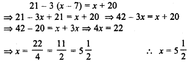Selina Concise Mathematics class 7 ICSE Solutions - Simple Linear Equations (Including Word Problems) -c25