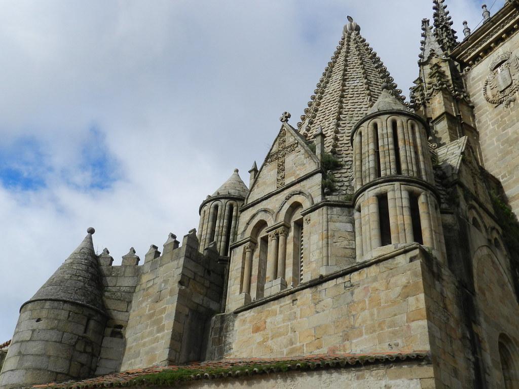 Torre del Melon exterior Catedral Vieja o Santa Maria Plasencia Caceres