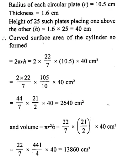 RD Sharma Class 10 Solutions Chapter 14 Surface Areas and Volumes Ex 14.1 8