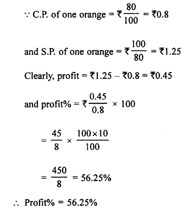 Selina Concise Mathematics class 7 ICSE Solutions - Profit, Loss and Discount-b16