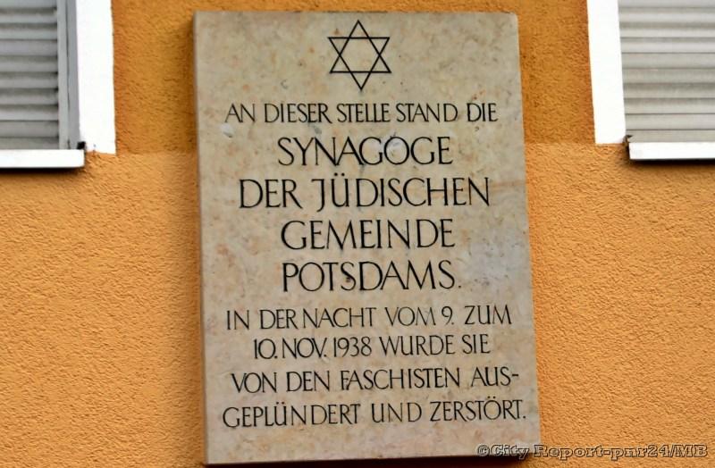 80. Jahrestag der Reichspromnacht und neue Synagoge in Potsdam