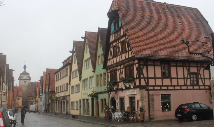 Free parking in Rothenburg ob der Tauber