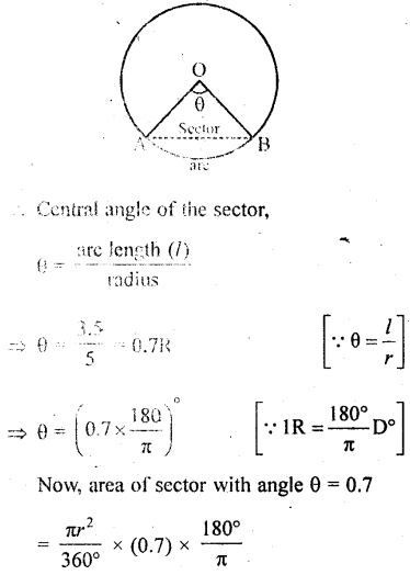 RD Sharma Class 10 Solutions Chapter 13 Areas Related to Circles Ex 13.2 - 10