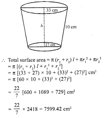 RD Sharma Class 10 Solutions Chapter 14 Surface Areas and Volumes Ex 14.3 14