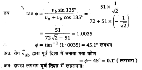 UP Board Solutions for Class 11 Physics Chapter 4 Motion in a plane ( समतल में गति) 14a