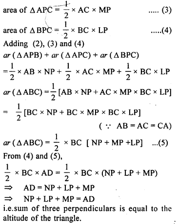 ML Aggarwal Class 9 Solutions for ICSE Maths Chapter 14 Theorems on Area    ct 4a