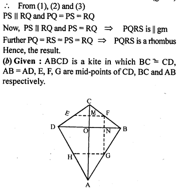 ML Aggarwal Class 9 Solutions for ICSE Maths Chapter 11 Mid Point Theorem    11c