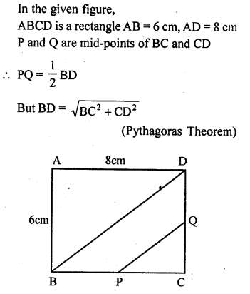 ML Aggarwal Class 9 Solutions for ICSE Maths Chapter 11 Mid Point Theorem    mcq 2