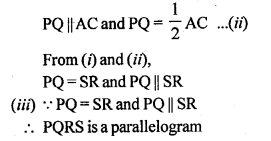 ML Aggarwal Class 9 Solutions for ICSE Maths Chapter 11 Mid Point Theorem    5b