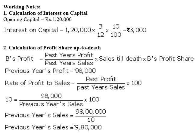 TS Grewal Accountancy Class 12 Solutions Chapter 5 Retirement Death of a Partner Q73.1