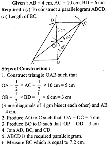 ML Aggarwal Class 9 Solutions for ICSE Maths Chapter 13 Rectilinear Figures  ex 2  9
