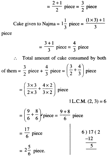 NCERT Solutions for Class 6 Maths Chapter 7 Fractions 106