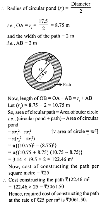 RD Sharma Class 10 Solutions Chapter 13 Areas Related to Circles Ex 13.1 22a