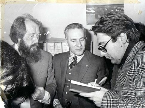 Solzhenitsyn en Madrid Prado del Rey 1975 Foto Antonio Couto