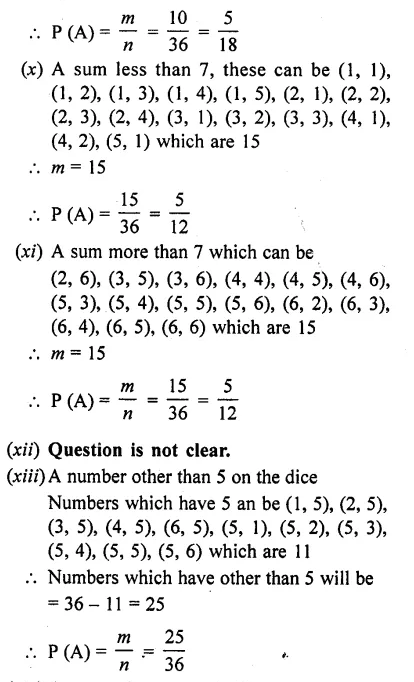 RD Sharma Class 10 Solutions Chapter 16 Probability Ex 16.1 50B
