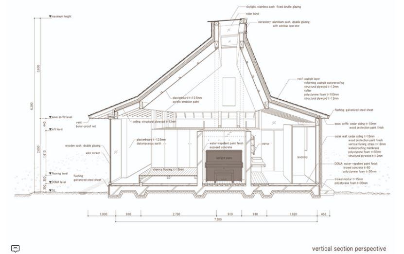 Model Plafon Kayu Ruang Tamu rumah jepang modern dengan konsep minka arginuring arsitek