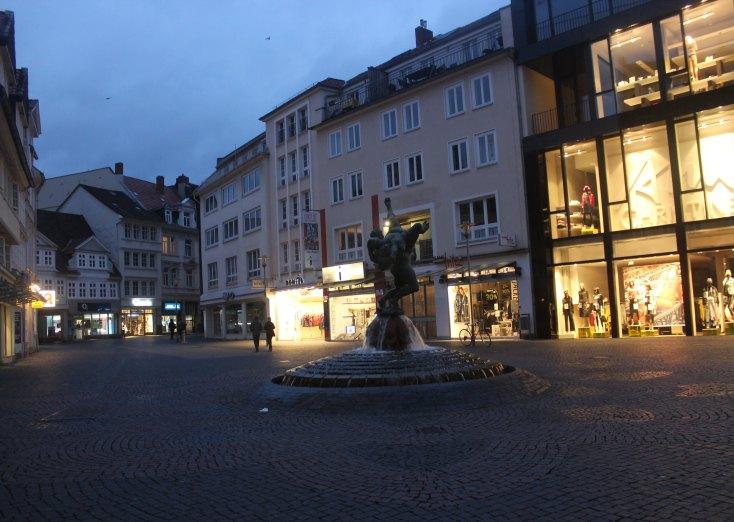 Square close to Burgplatz in Braunschweig, Germany