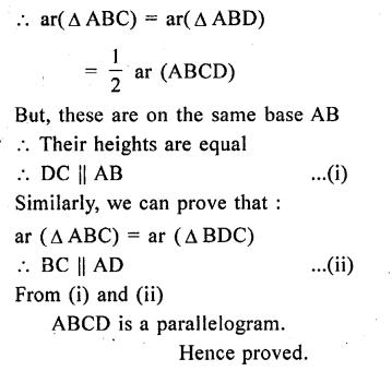 ML Aggarwal Class 9 Solutions for ICSE Maths Chapter 14 Theorems on Area    ct 5a