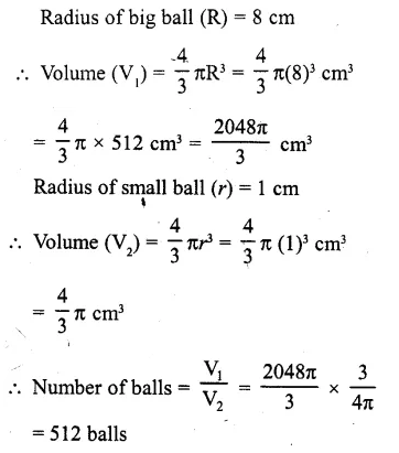 RD Sharma Class 10 Solutions Chapter 14 Surface Areas and Volumes Ex 14.1 1