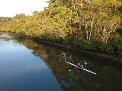 Rower on the river #marineexplorer