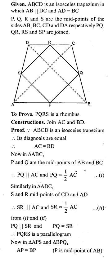 ML Aggarwal Class 9 Solutions for ICSE Maths Chapter 13 Rectilinear Figures  ct 3