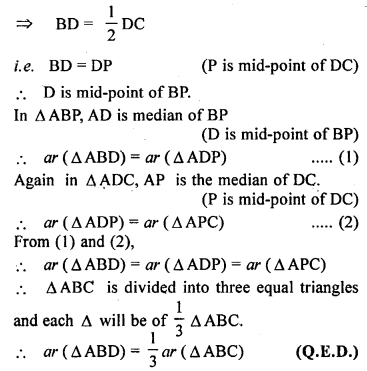 ML Aggarwal Class 9 Solutions for ICSE Maths Chapter 14 Theorems on Area    ct pq2a
