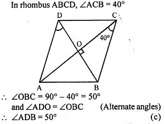 ML Aggarwal Class 9 Solutions for ICSE Maths Chapter 13 Rectilinear Figures  mcq  5