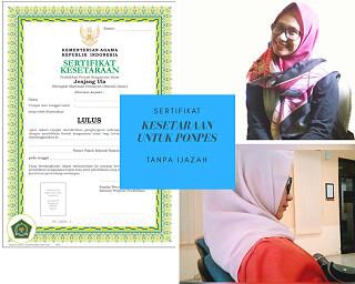 sertifikat rekognisi pondok pesantren salafiyah