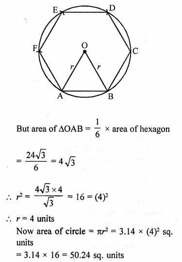 RD Sharma Class 10 Solutions Chapter 13 Areas Related to Circles Ex 13.4 - 28