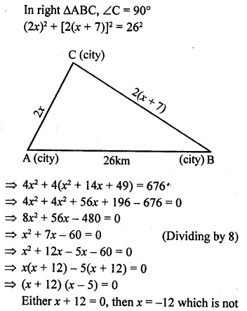 ML Aggarwal Class 9 Solutions for ICSE Maths Chapter 12 Pythagoras Theorem     7