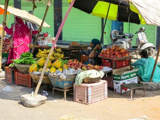 Mercado de la fruta en Udaipur