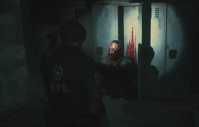 Resident Evil 2 Remake - Zombie in A Locker
