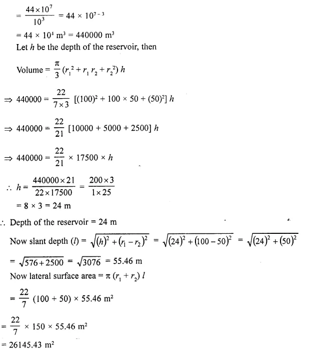 RD Sharma Class 10 Solutions Chapter 14 Surface Areas and Volumes Ex 14.3 23a