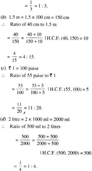 NCERT Solutions for Class 6 Maths Chapter 12 Ratio and Proportion 12