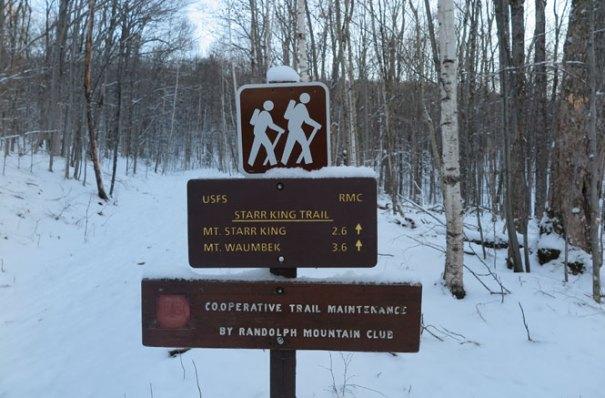 Starr King Trail Head in Winter
