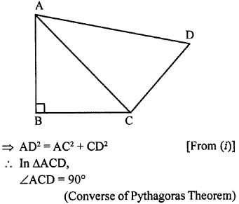 ML Aggarwal Class 9 Solutions for ICSE Maths Chapter 12 Pythagoras Theorem     ch5a