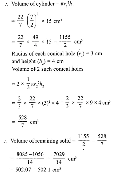 RD Sharma Class 10 Solutions Chapter 14 Surface Areas and Volumes  RV 43